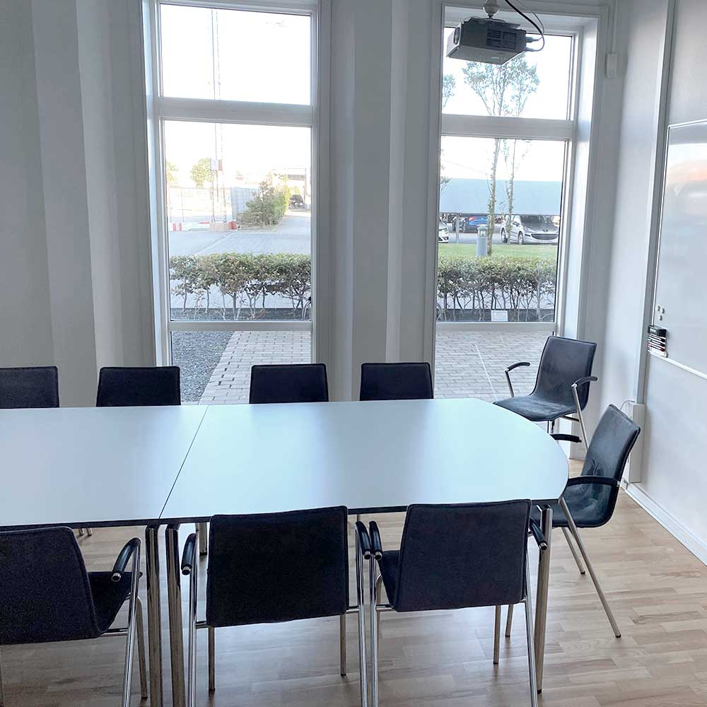 mødelokale med egen terasse
